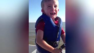 Baby Shark Doo Doo ! Funniest Babies Reaction To Fish #2 Funny Babies