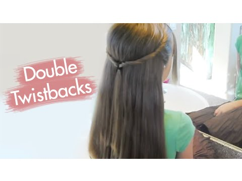 Double Twistbacks Cute Girls Hairstyles Youtube