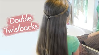 Double Twistbacks | Cute Girls Hairstyles
