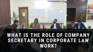 What is the role of company secretary in corporate law work?