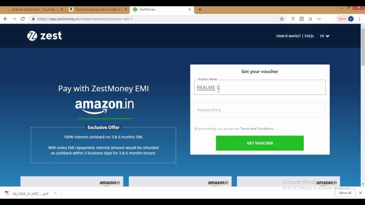12ffb008f EMI WITHOUT CREDIT AND DEBIT CARD!   amazon
