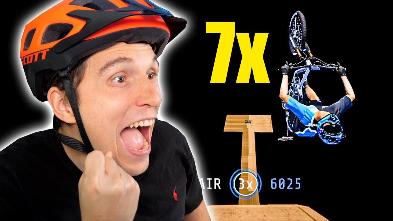 Die XXL Sprungschanze! (Backflip REKORD gebrochen)   Fahrrad Simulator