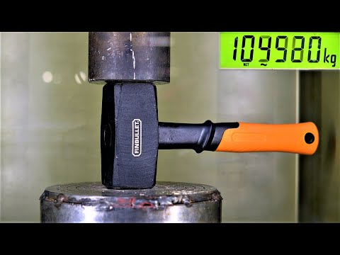 How Strong is a STEEL HAMMER? Hydraulic Press Test!