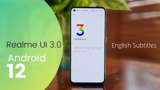 realme UI 3.0 Update - First Look & Features   Android 12   English Subtitles