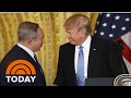 President Donald Trump Backs Away From 2-State Israel-Palestine Solution | TODAY