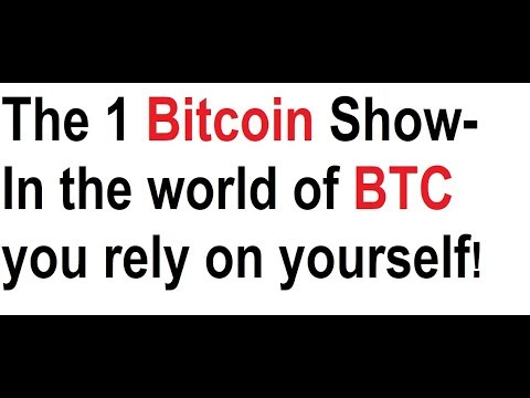 The 1 Bitcoin Show- In the world of BTC you rely on yourself!