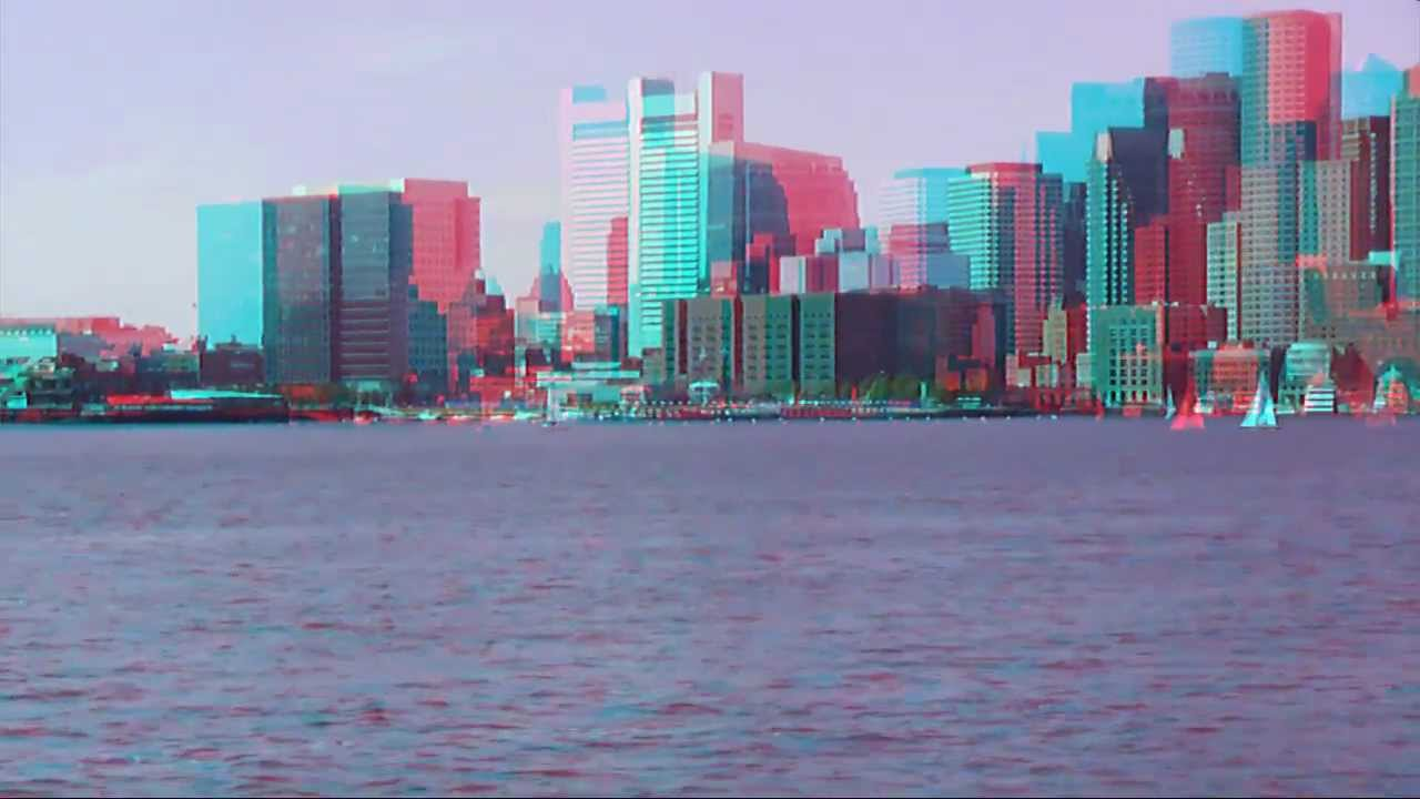 3d anaglyph red cyan glasses boston harbor cruise and