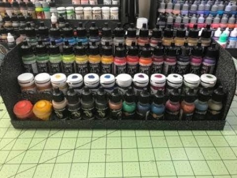 How to make Cheap and Easy Miniature Paint Racks!