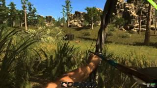 Охота в RUST,как сделать лук и стрелы?как легко убить медведя?#3