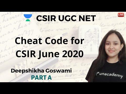 Cheat Code for CSIR NET | Unacademy Live- CSIR UGC NET | Deepshikha Goswami