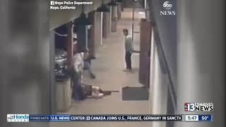 Woman beaten outside of bar