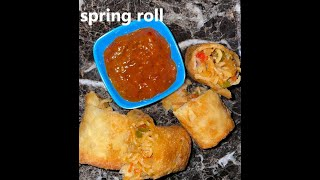 spring roll recipe# Monika&#39s kitchen # home cooking
