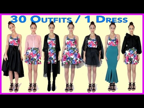 30 Outfits With 1 DRESS!  30 New Outfit Ideas with 1 Dress