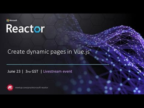 Create Dynamic Pages in Vue.js