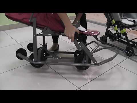 Как сложить санки коляску