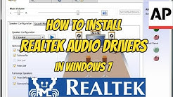 How to install Realtek HD audio drivers in windows 7 | ASHRAF PASHA |