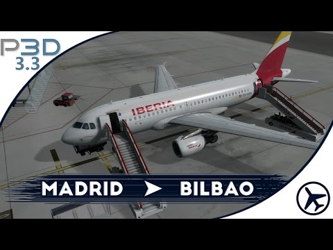 Llegando entre nubes | MAD - BIO | A319 [Aerosoft] | Prepar3D 3.3 [IVAO]
