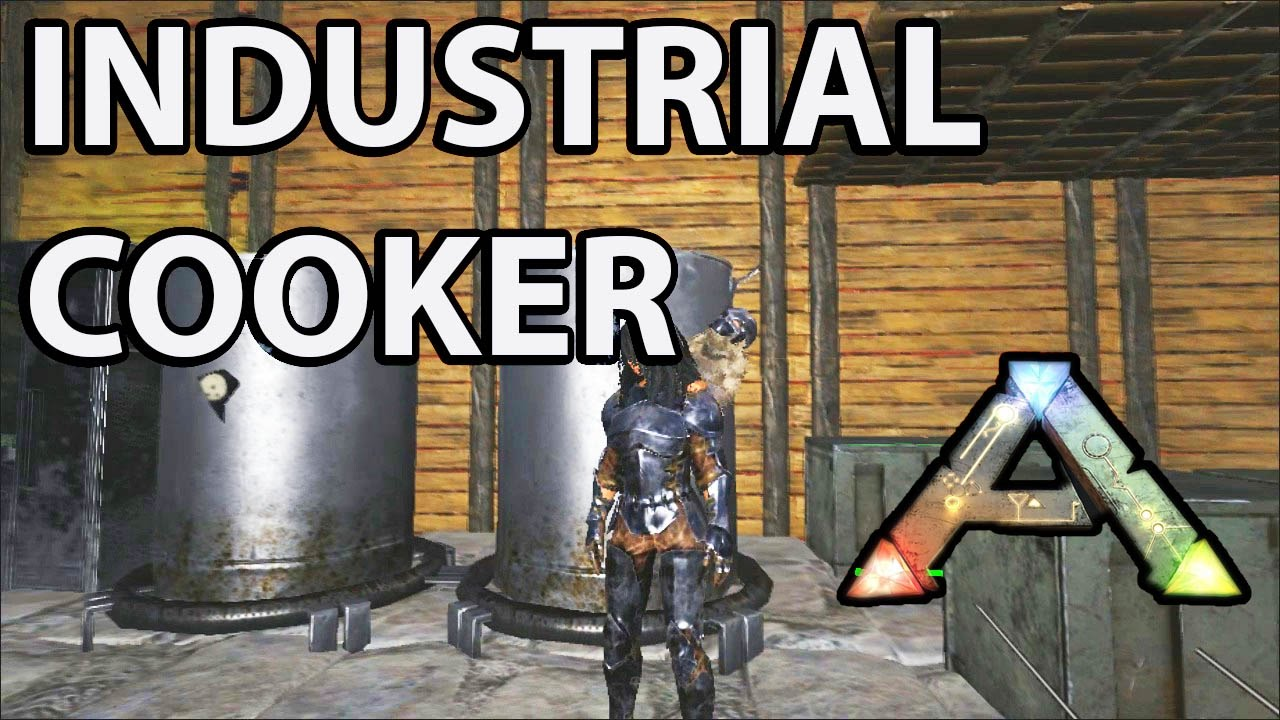 Industrial Cooker Crafting In Ark Survival Evolved How To Youtube