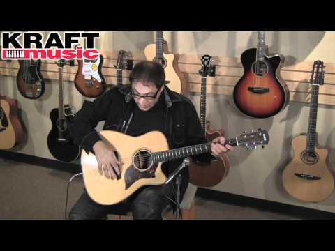 Kraft Music - Yamaha A3 Acoustic Electric Guitar Demo with Don Alder