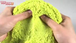 How To Make Slime Kinetic Sand Spider Man Cake Learn Colors Slime Clay   TOYTOYA