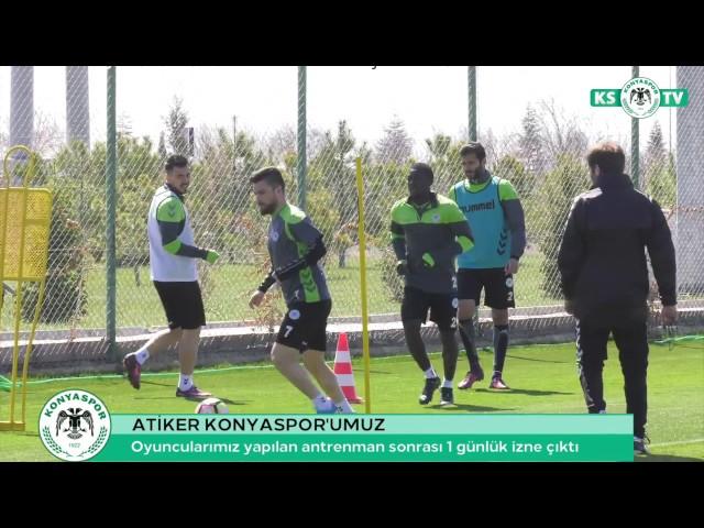 Atiker Konyaspor'umuz yapılan antrenman sonrası bir günlük izne çıktı