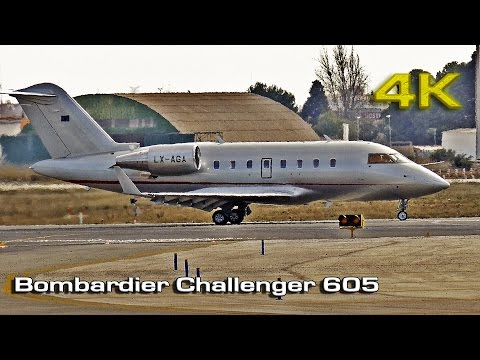 Bombardier Challenger 605 Private Jet [4K]