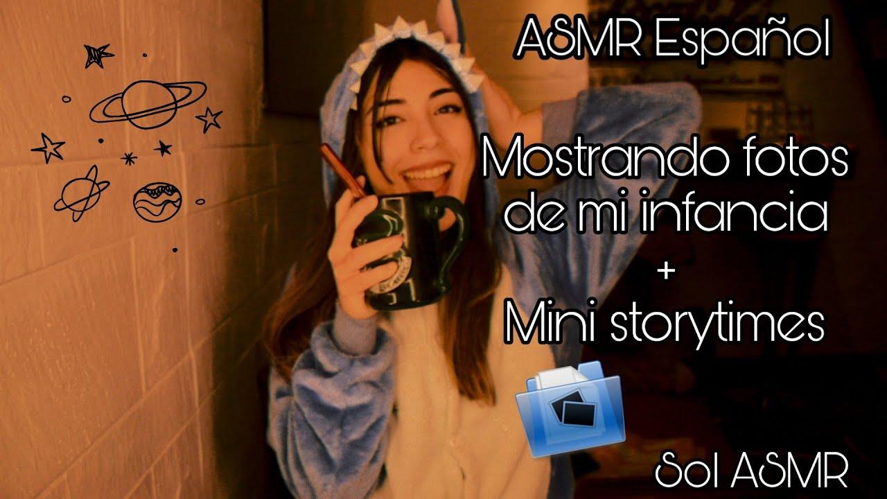 ASMR Español   Mostrando fotos de mi infancia + Mini Storytimes