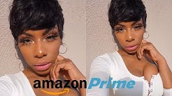 I TRIED A CHEAP WIG FROM AMAZON PRIME! HUMAN HAIR PIXIE CUT SUMMER READY WIG! LOOKS NATURAL