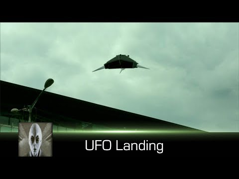 UFO Lands Excellent Footage March 17th 2018