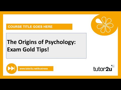 Origins of Psychology Exam Gold | AQA A Level Psychology Catch Up 2021 from YouTube · Duration:  2 minutes 36 seconds