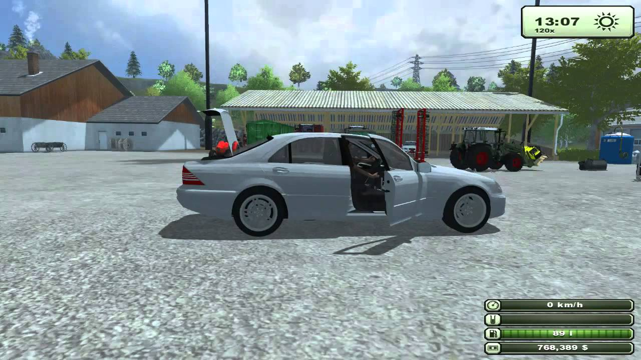 Farming Simulator 2013 Mod Mercedes S Class - YouTube