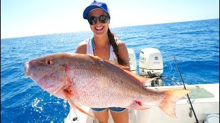MONSTER Snapper Catch, Clean, and Cook!! Key West, Florida Fishing
