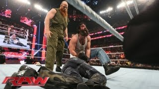 The Wyatt Family attacks R-Truth: Raw, July 15, 2013