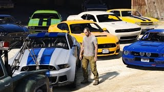 gta 5 trevors new muscle car collection real car mods