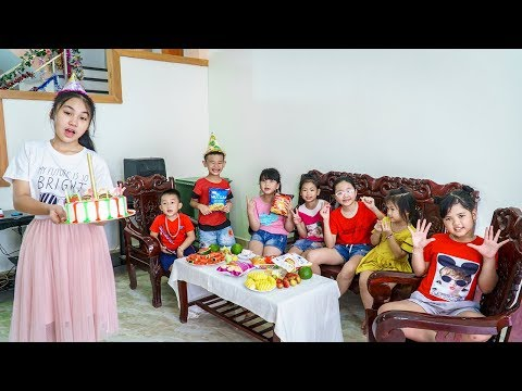 Kids Go To School   Sister Chuns Buy Birthday Cake For Friends In The Classroom