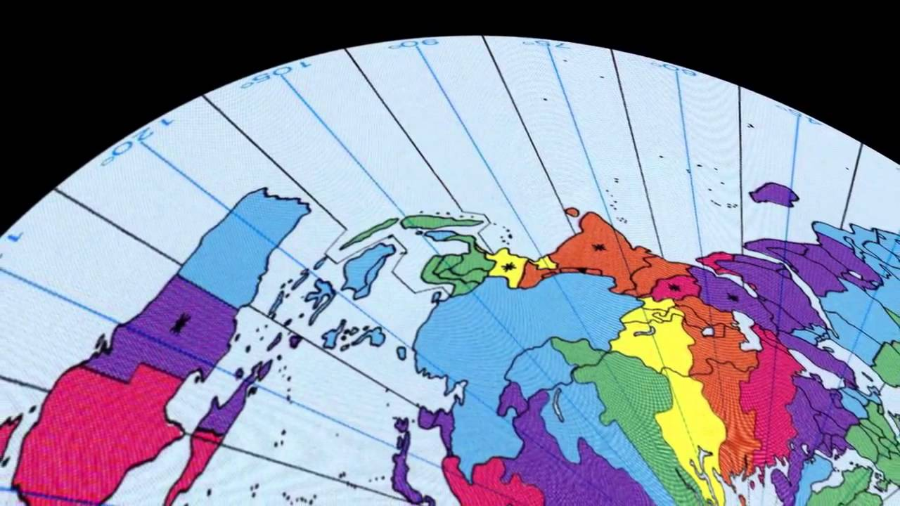 Flat Earth time zones by Paul Cheefts   YouTube