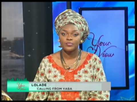 Your view interviews Ramsey Noah , 27th JUNE 2014