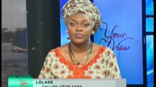 Your view interviews Ramsey Noah  27th JUNE 2014