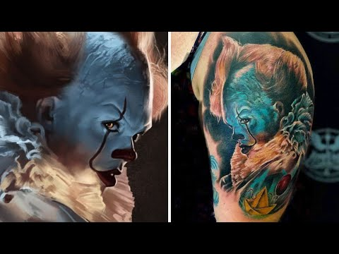 Pennywise Tattoo by Tom Angel Ink