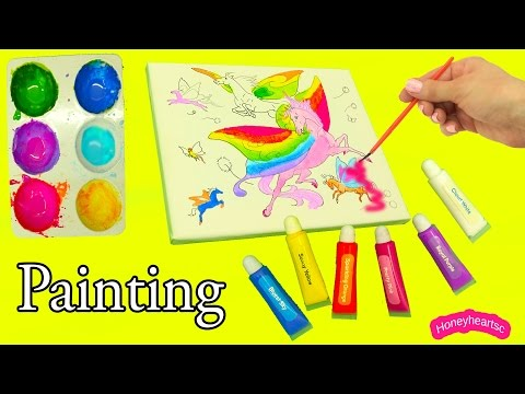 Breyer Wind Dancers Painting with Water + Acrylic Paint on Canvas Set - Honeyheartsc Video