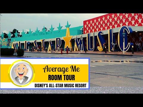 Disney's All Star Music Resort - ROOM TOUR