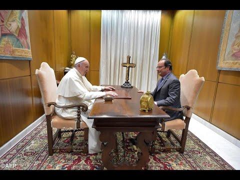 Papa recebe o Presidente francês François Hollande