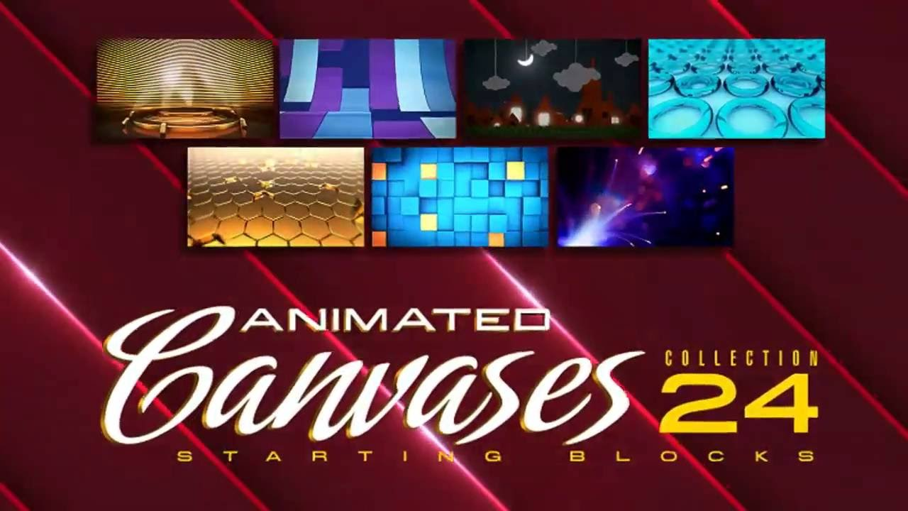 Animated Canvases Collection 24: Starting Blocks