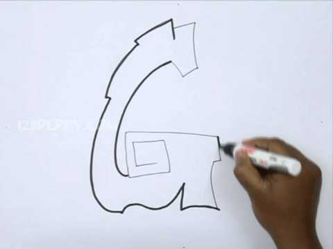 how to draw graffiti letter g