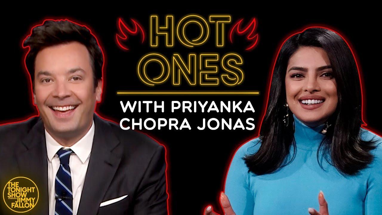 Priyanka Chopra Jonas & Jimmy Can't Sit Still While Eating Spicy Wings w/ Sean Evans (Hot Ones)