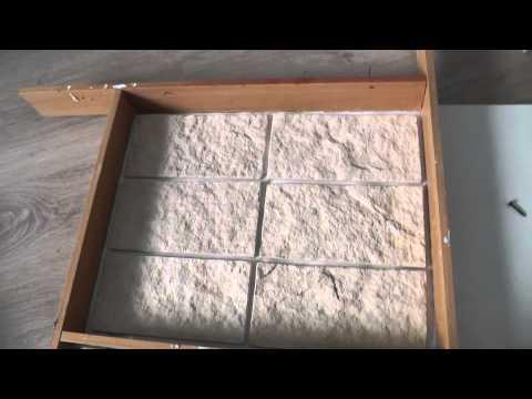 Силиконовая форма для декоративного камня.  Silicone molds for decorative stone (subtitles)
