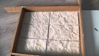 Силиконовая форма для декоративного камня.  Silicone molds for decorative stone (subtitles)(В этом видео показывается как сделать формы из силикона для гипсовой плитки., 2015-08-28T19:35:36.000Z)