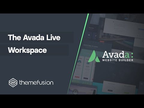 The Fusion Builder Live Workspace video