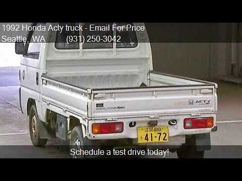 1992 Honda Acty truck for sale in Seattle, WA 98103 at JDM