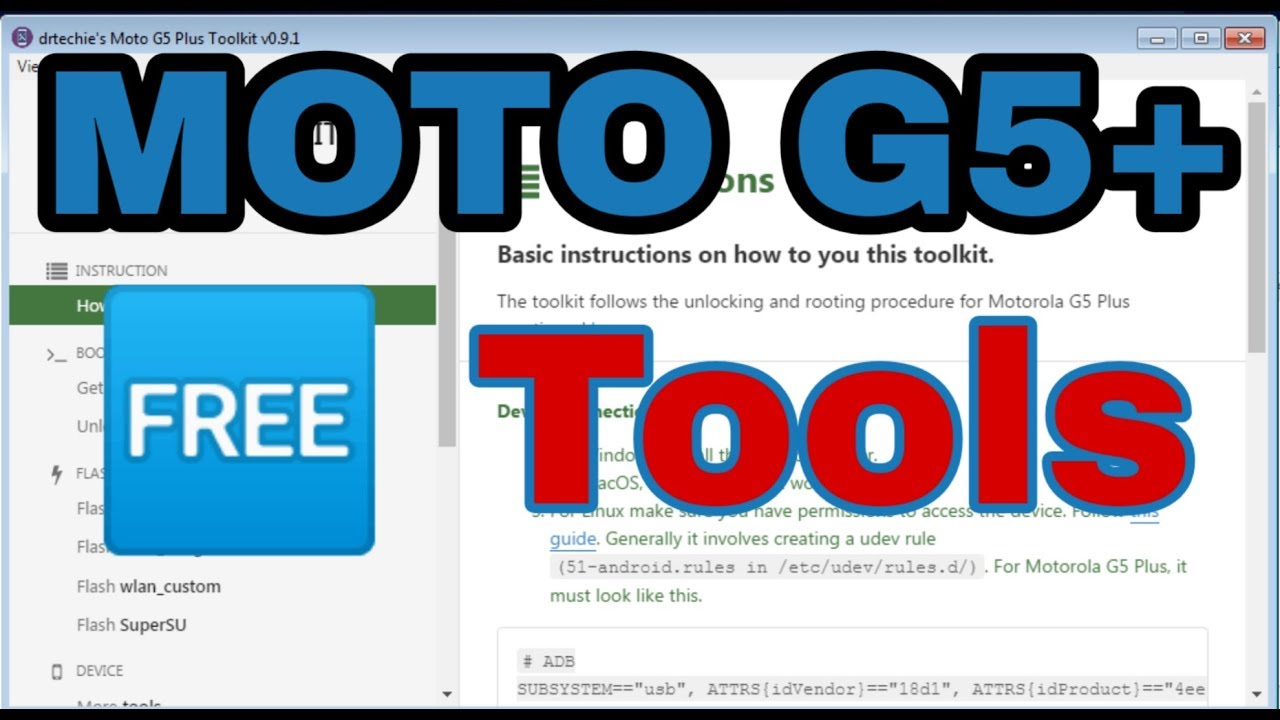 Moto G5 Pluse Android Toolkit 100% Working Tool
